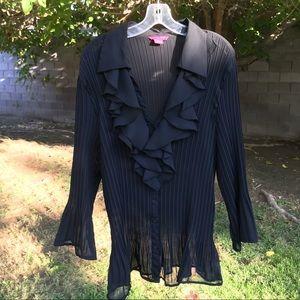 Stunning Black Sheer Blouse